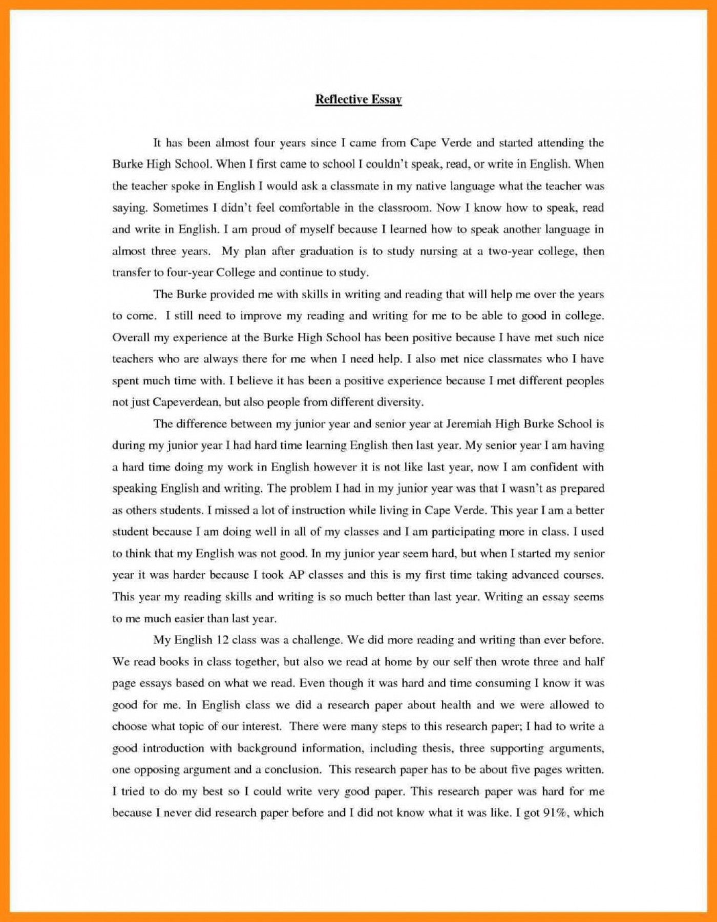 How Do You Write A Personal Reflective Essay   Applydocoument co