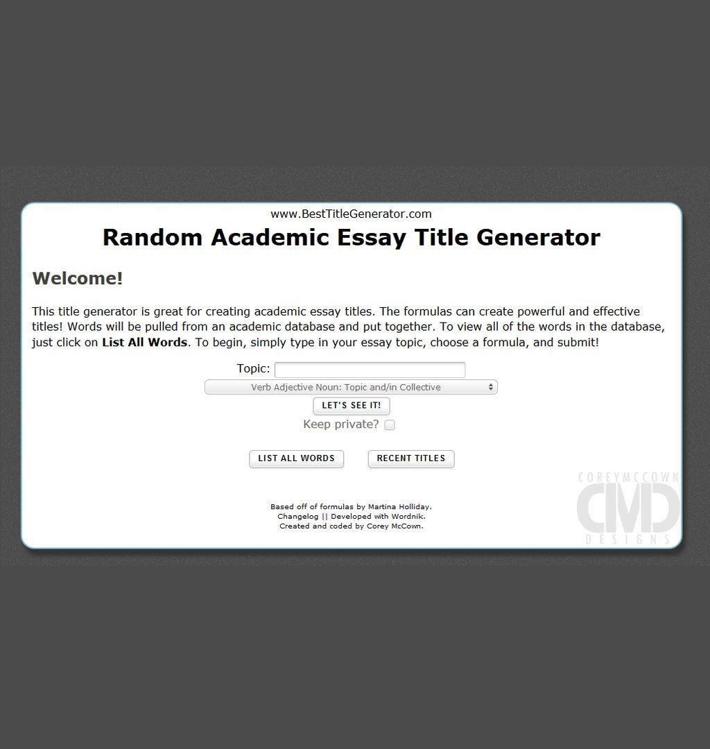 019 Random Essay Generator Stunning Postmodern Prompt Large