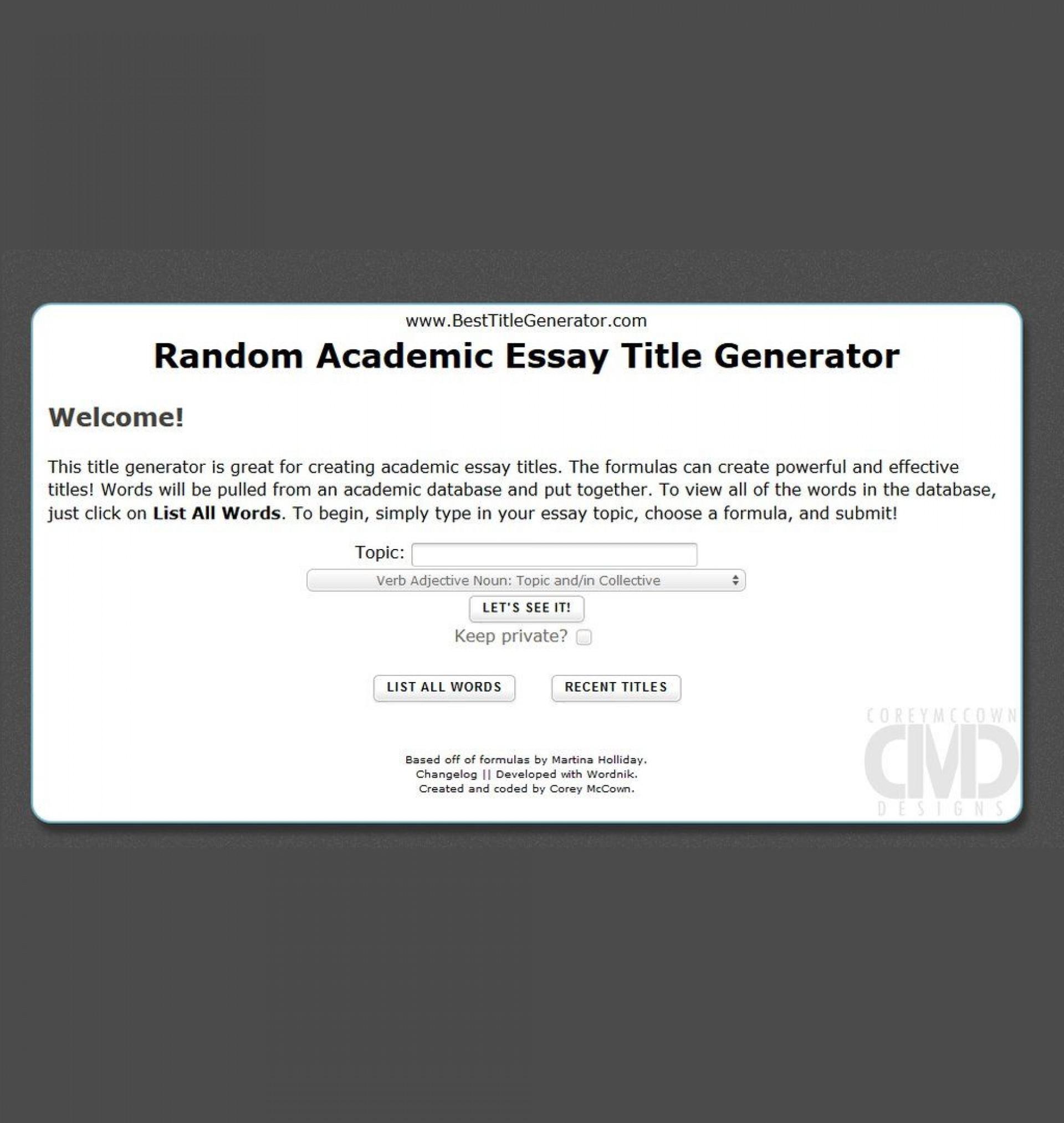 019 Random Essay Generator Stunning Postmodern Prompt 1920