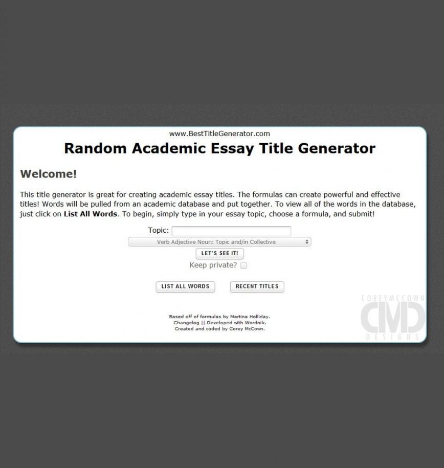 Entrance essay for college topics