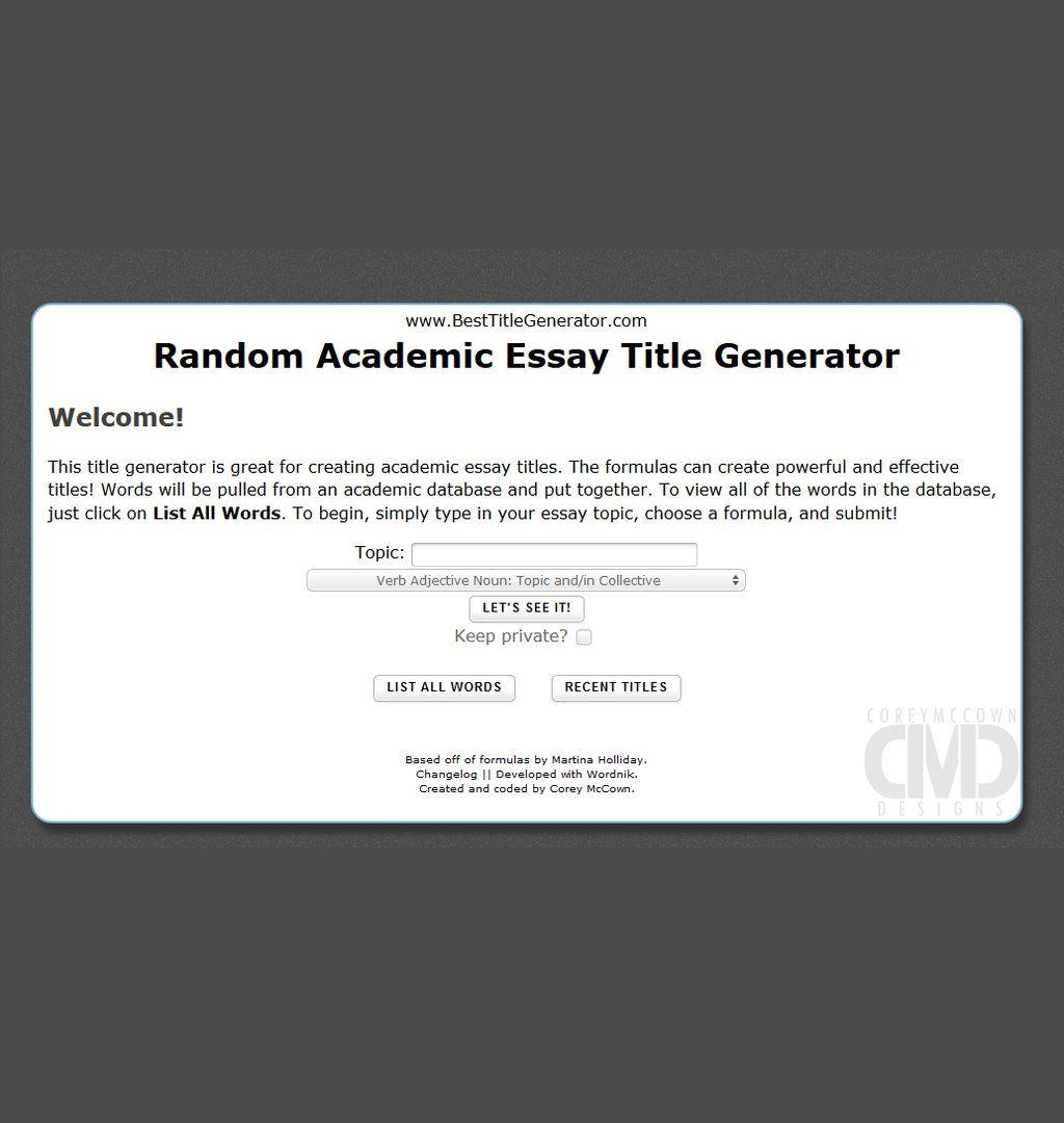 019 Random Essay Generator Stunning Postmodern Prompt Full