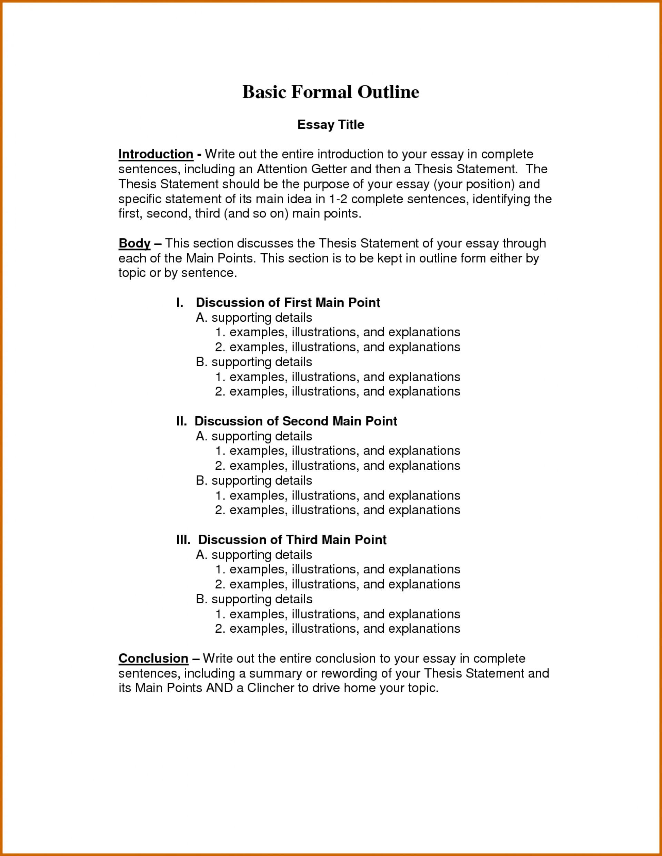 Definition of formal essay
