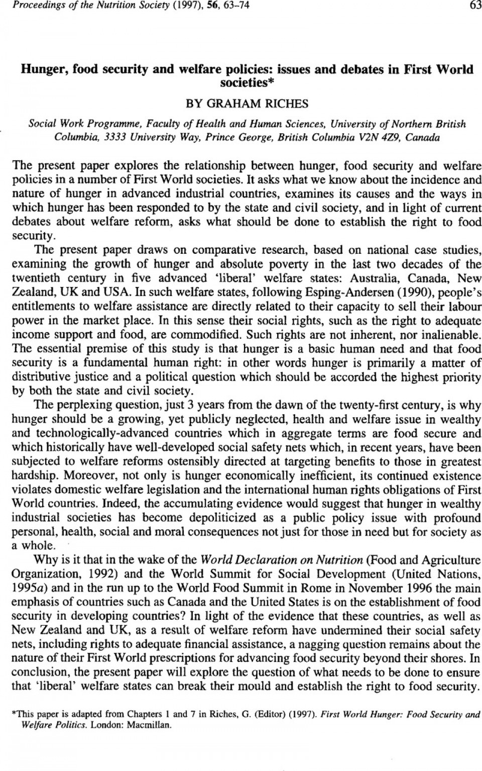 causes of world hunger essays