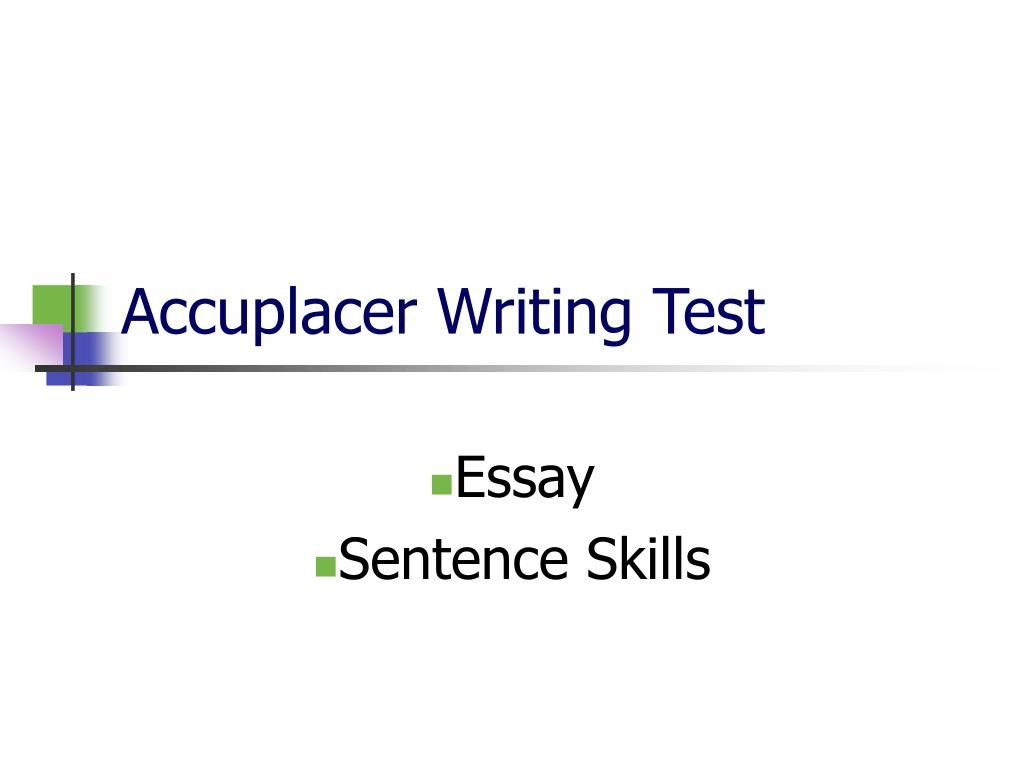 020 Accuplacer Essay Writing Test L Outstanding Score 7 Study Guide Writeplacer Success Large