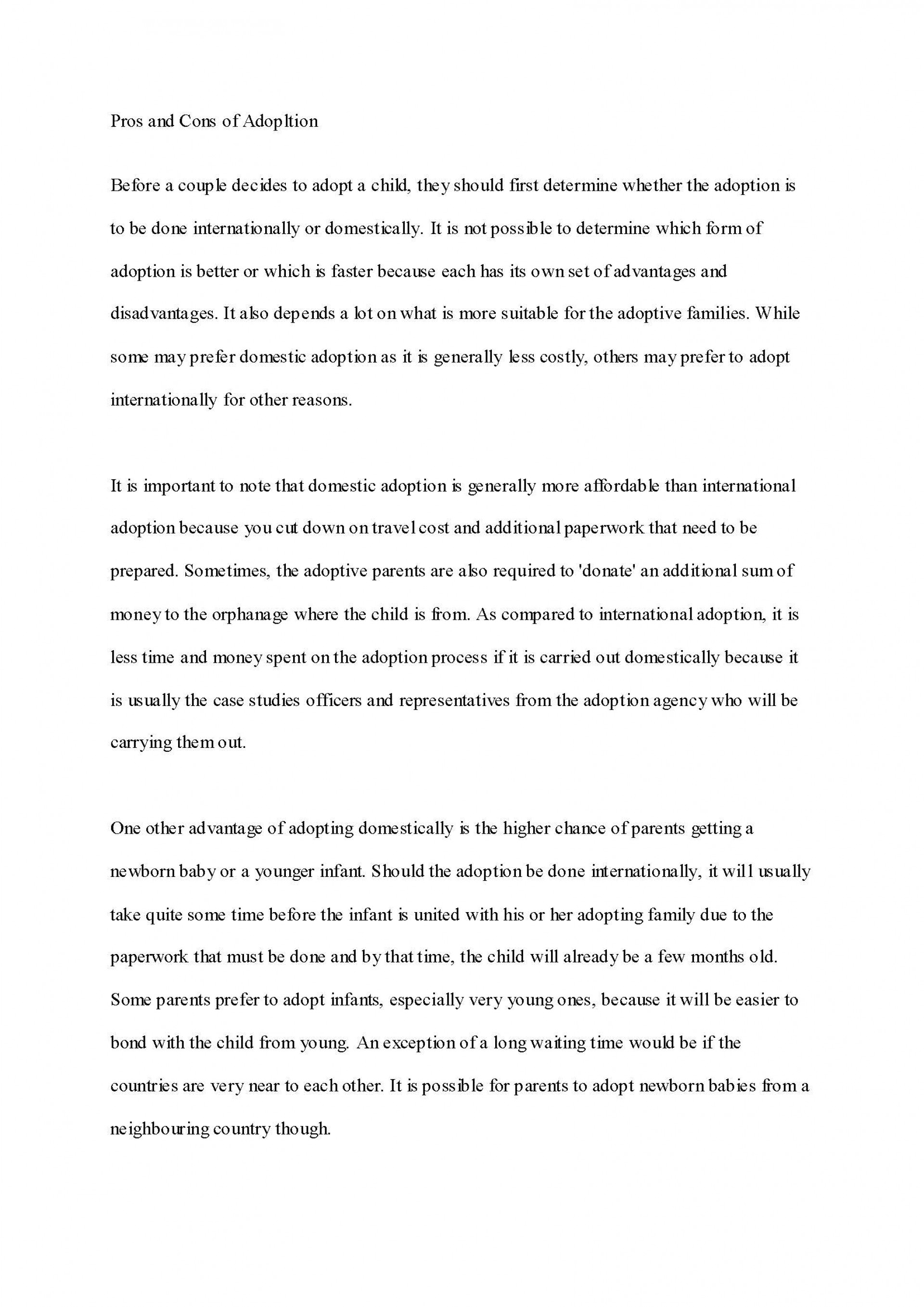 020 Adoption Essay Sample Persuasive Samples Awesome Short Examples About Bullying College Athletes Should Get Paid For Elementary Students 1920