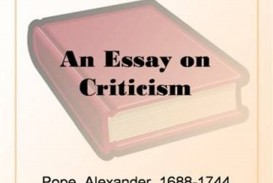 020 An Essay On Criticism Pope Unique Part 2 Pope's Was Written In
