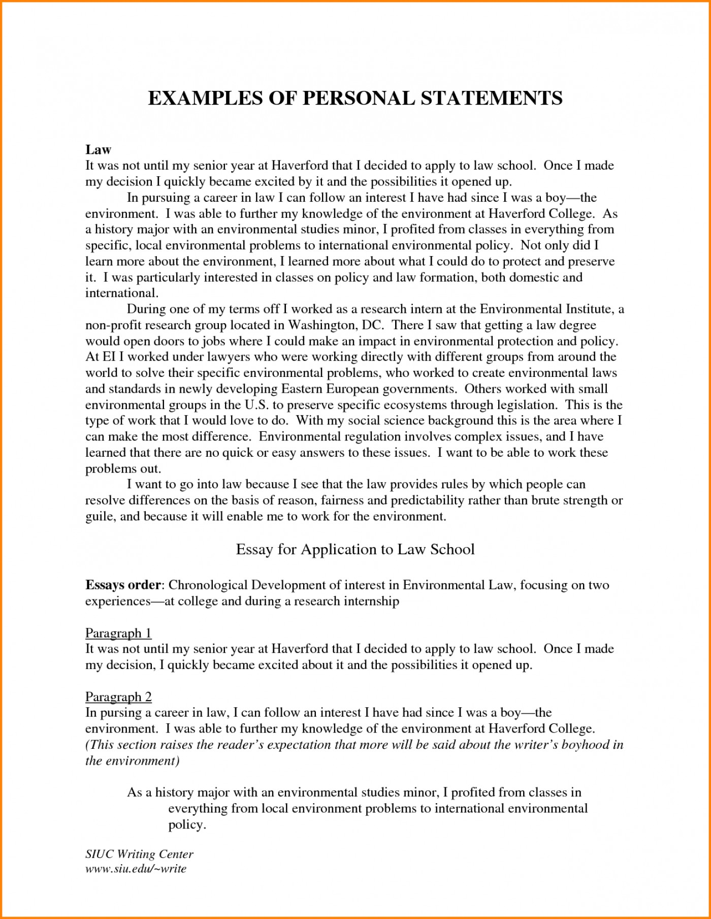 008 Appic Essay Examples Example Internship Sample Personal