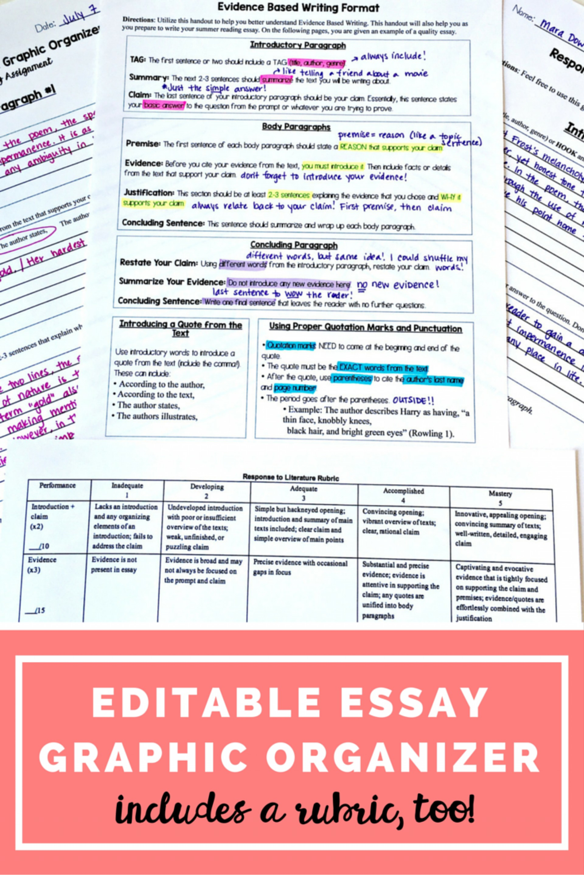 020 Argumentative Essay Graphic Organizer Incredible For Middle School Pdf 1920