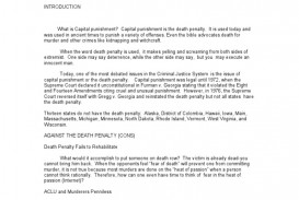 020 Argumentative Essays On The Death Penalty Pro Ornellas Position Paper Outline Term Essay Persuasive Against Sensational Anti Conclusion Hook For