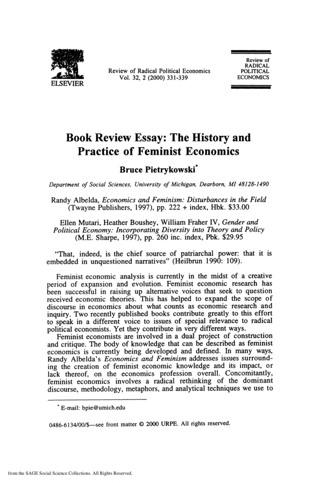 Example book review essay