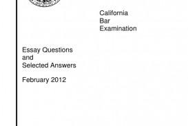 020 California Bar Essays Essay Example Exam February Selected A 58bfe824b6d87fac848b5294 Marvelous Graded 2018 How Are