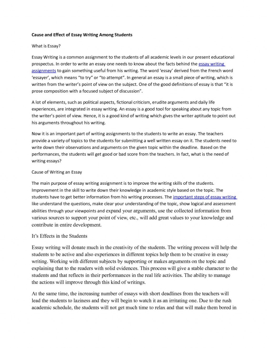 020 Essay Example Cause And Effect Expository Of About Smoking Examples Middle School Outline Resume Cv For College Bystander 6th Grade Ielts Excellent Large