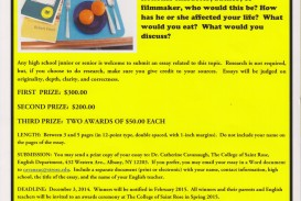 020 Essay Example Contests Announcing The College Of Saint Rose High School Contest Writing For Students Essaycontestflye Competitions In India Scholarships Imposing 2014 Maryknoll Winners