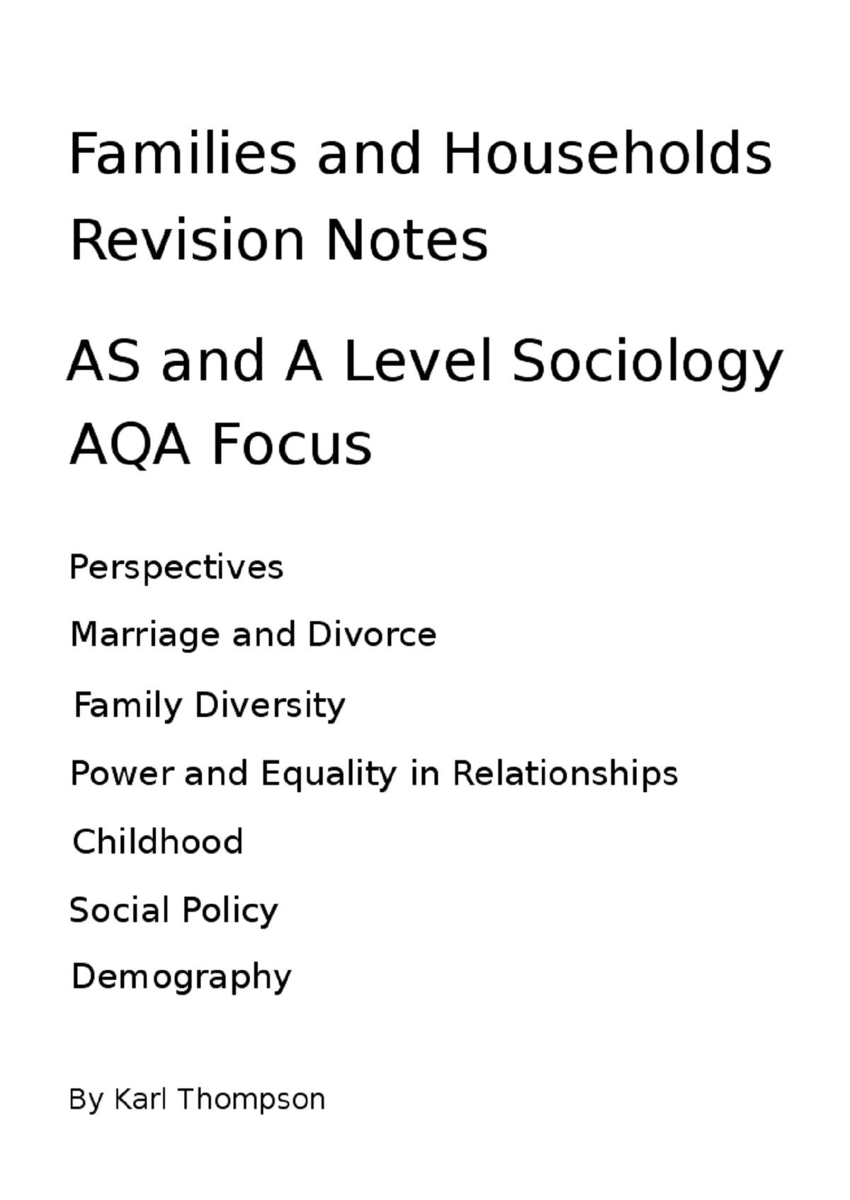 020 Essay Example Families And Households Revision Notes For As Level Sociology Aqa Focus Family Incredible Values In Telugu Richard Rodriguez Full