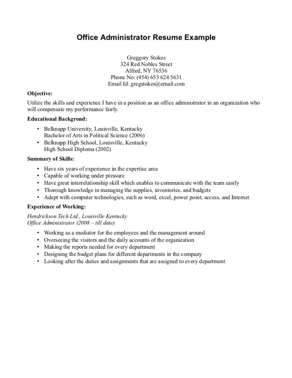020 Essay Example High School Experience Free Sample Resumes With No Work Cv For Year Old Leaver Dreaded 960