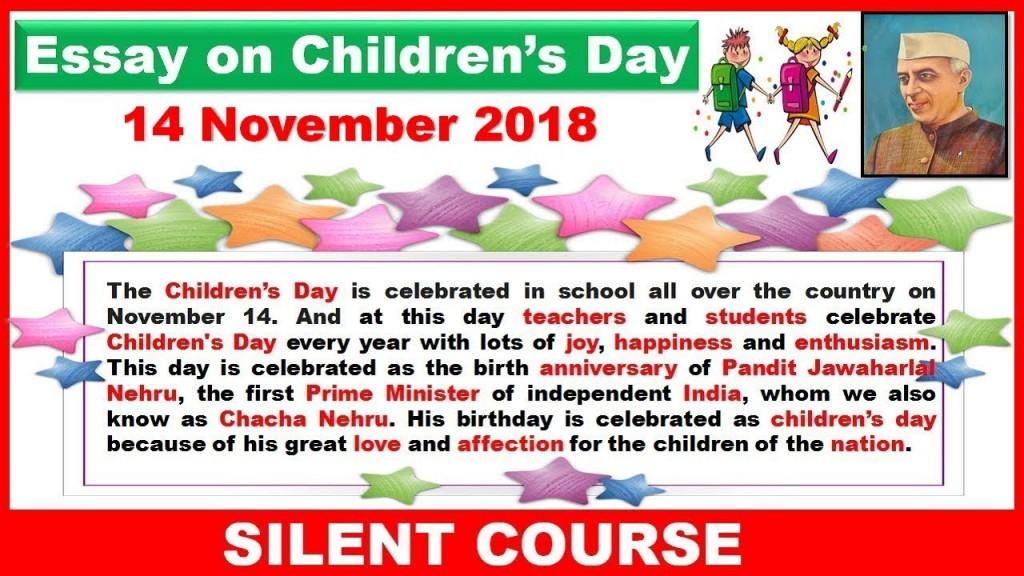 020 Essay Example Maxresdefault On Rare Children Children's Day In Kannada Telugu Large
