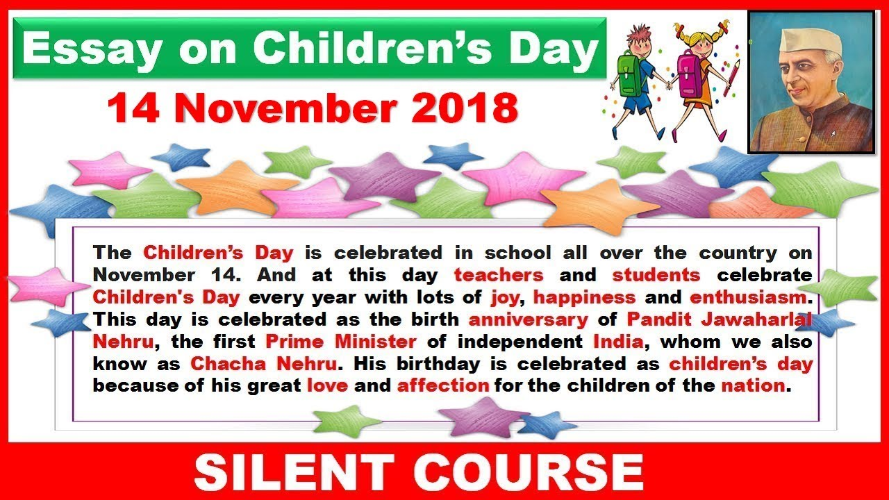 020 Essay Example Maxresdefault On Rare Children Children's Day In Kannada Telugu Full