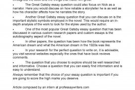 020 Essay Example P1 The Great Gatsby Beautiful Prompts Chapter 3 Questions Writing