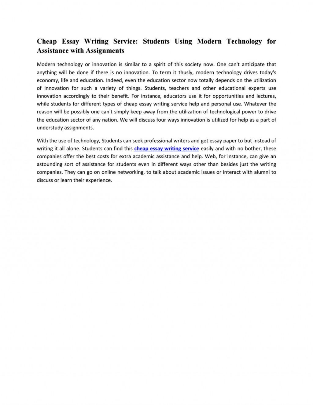 020 Essay Example Page 1 About Modern Wonderful Technology Pros And Cons In Everyday Life 2050 Large