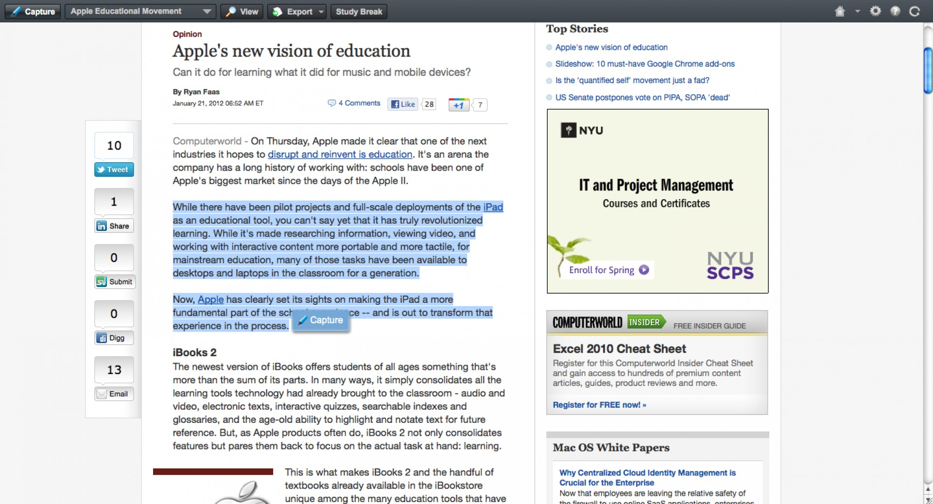 020 Essay Example Screenshot2012 21at11 15am How To Cite Website Stupendous In A Paper With No Author Or Date Citation Text Apa 1920