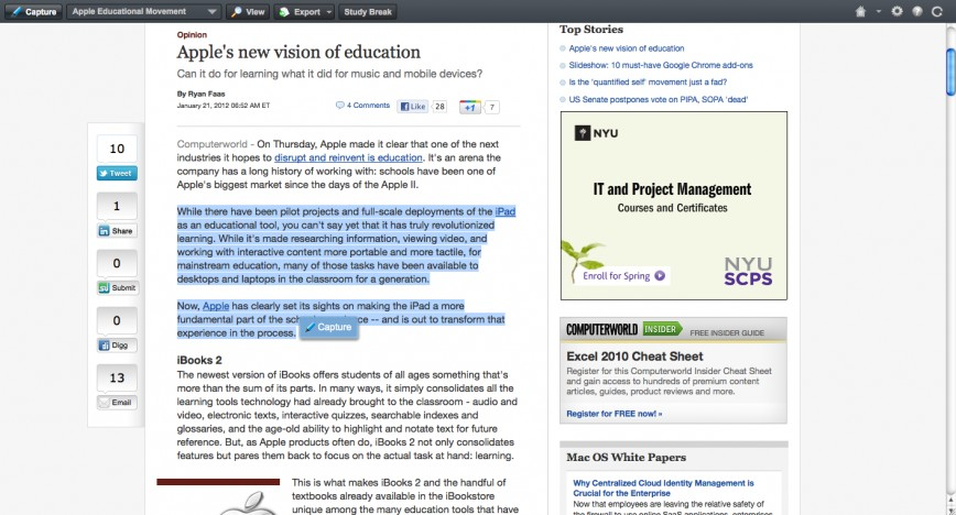 020 Essay Example Screenshot2012 21at11 15am How To Cite Website Stupendous In A With No Author Article Without