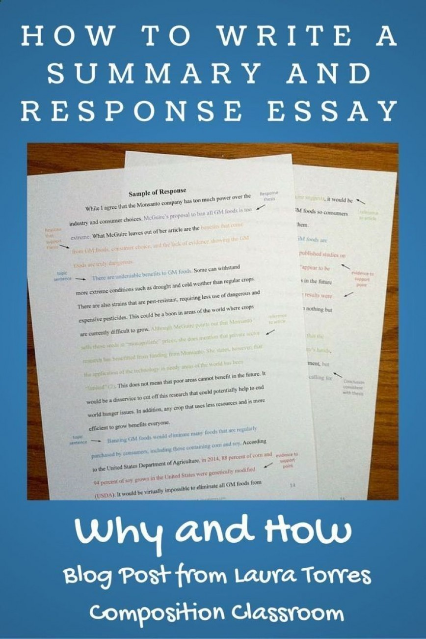 020 Essay Example Summary And Response Stupendous Pdf Thesis Outline
