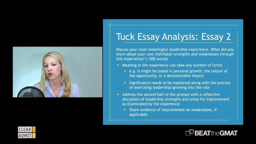 020 Essay Example Tuck Mba Essays Marvelous Sample Tips 2018 Large