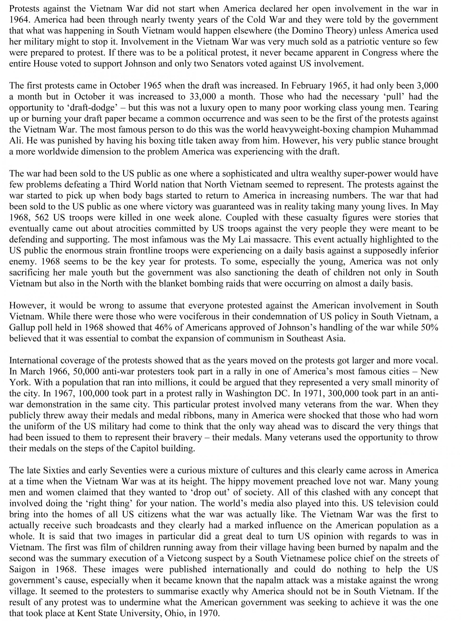020 Essay Example Vietnam War Causal Argument Imposing Topics Topic Ideas 1920