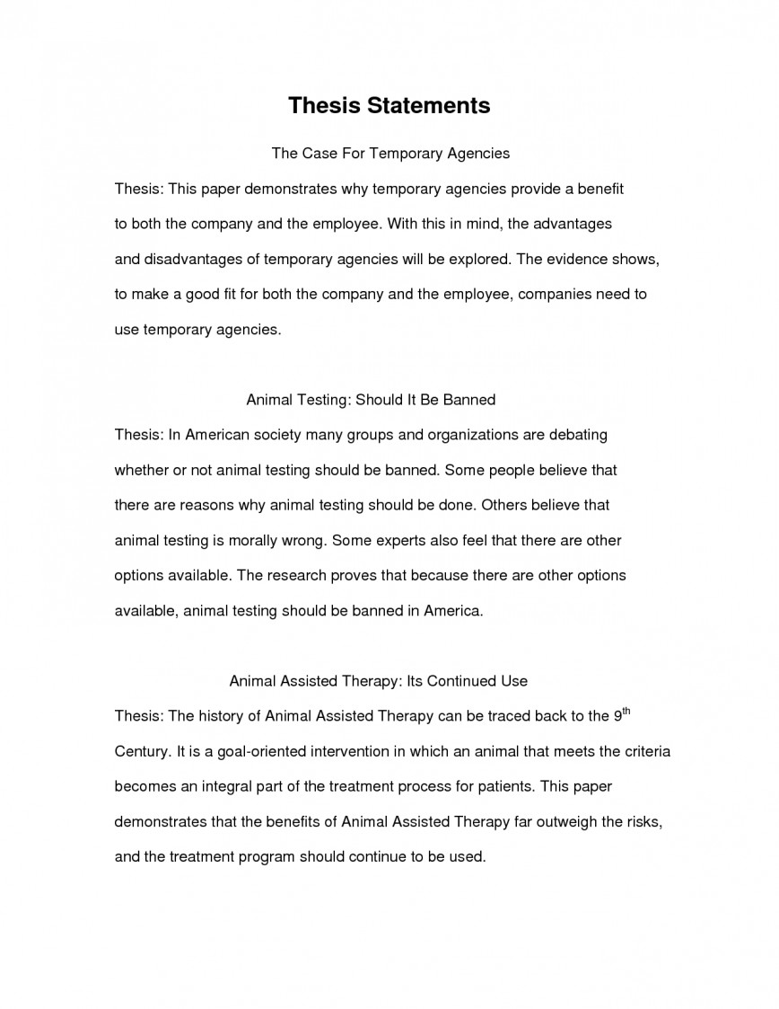 020 Essay Thesis Examples Example Unusual Persuasive Critique For Compare And Contrast