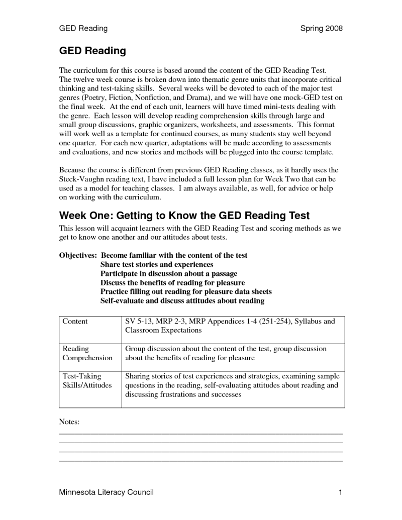 graphic relating to Ged Practice Test Printable known as 020 Ged Teach Check Printable Worksheets