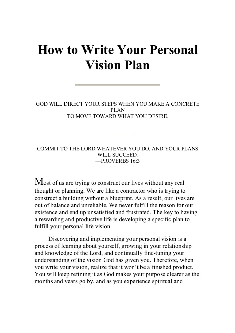 020 Howtowriteyourpersonalvisionplan Phpapp01 Thumbnail 4cb5cu003d1248839068 Essay Example Career Fantastic Goals Business Examples Scholarship Pdf Full
