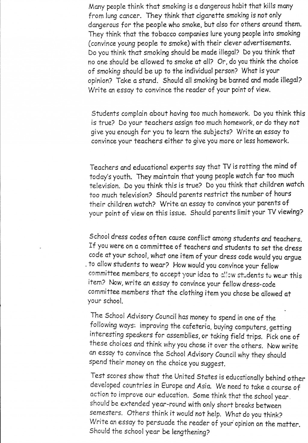 020 Interesting Essay Topics Argumentative Persuasive L Amazing For Grade 7 9 Pat 7th Large
