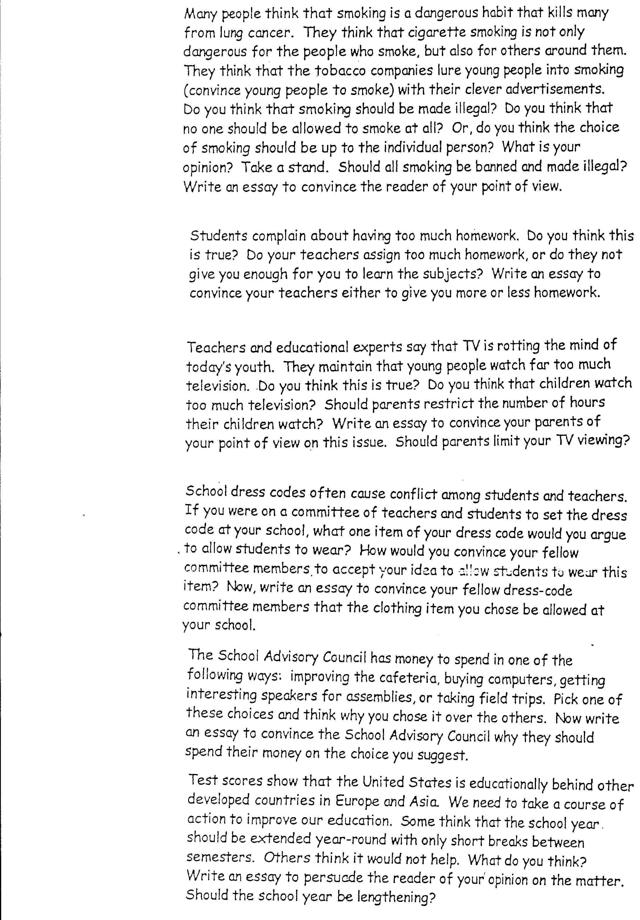 020 Interesting Essay Topics Argumentative Persuasive L Amazing For Grade 7 9 Pat 7th Full