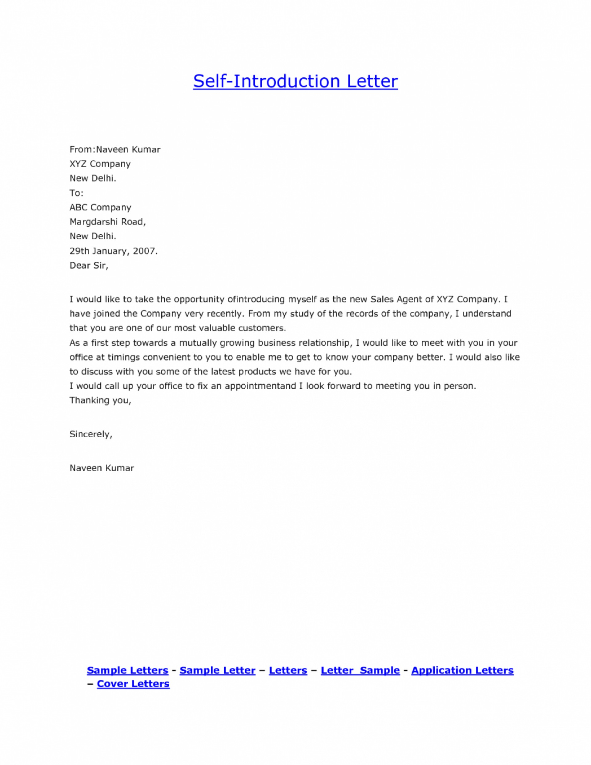 020 Introducing Myself Essay Self Introduction Introduce Personal Letter Template Sample How To Formally Yourself Via