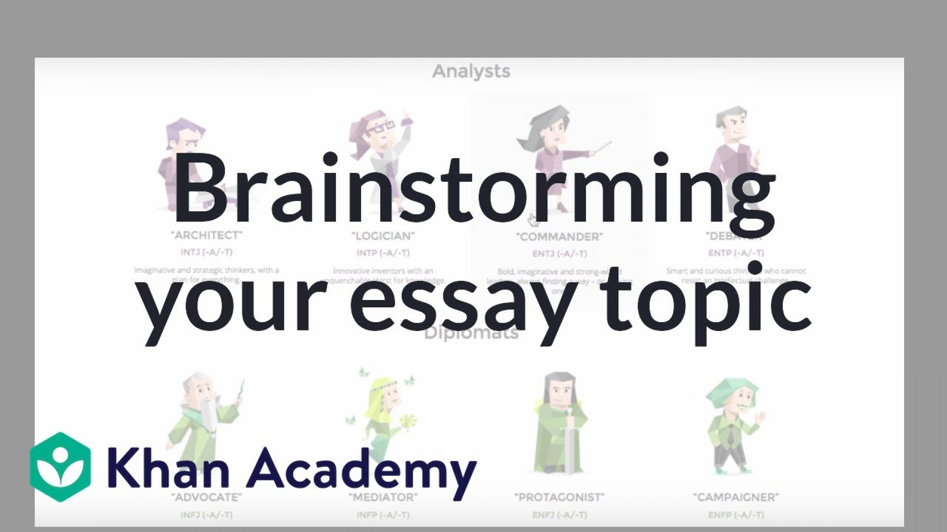 020 Maxresdefault Essay Brainstorming Outstanding Writing Techniques Topics College 1920