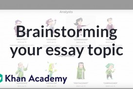 020 Maxresdefault Essay Brainstorming Outstanding Writing Techniques Topics College 320