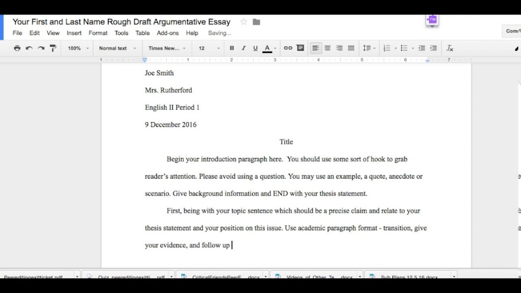 020 Maxresdefault Mla Format Argumentative Essay Archaicawful Outline Persuasive Large