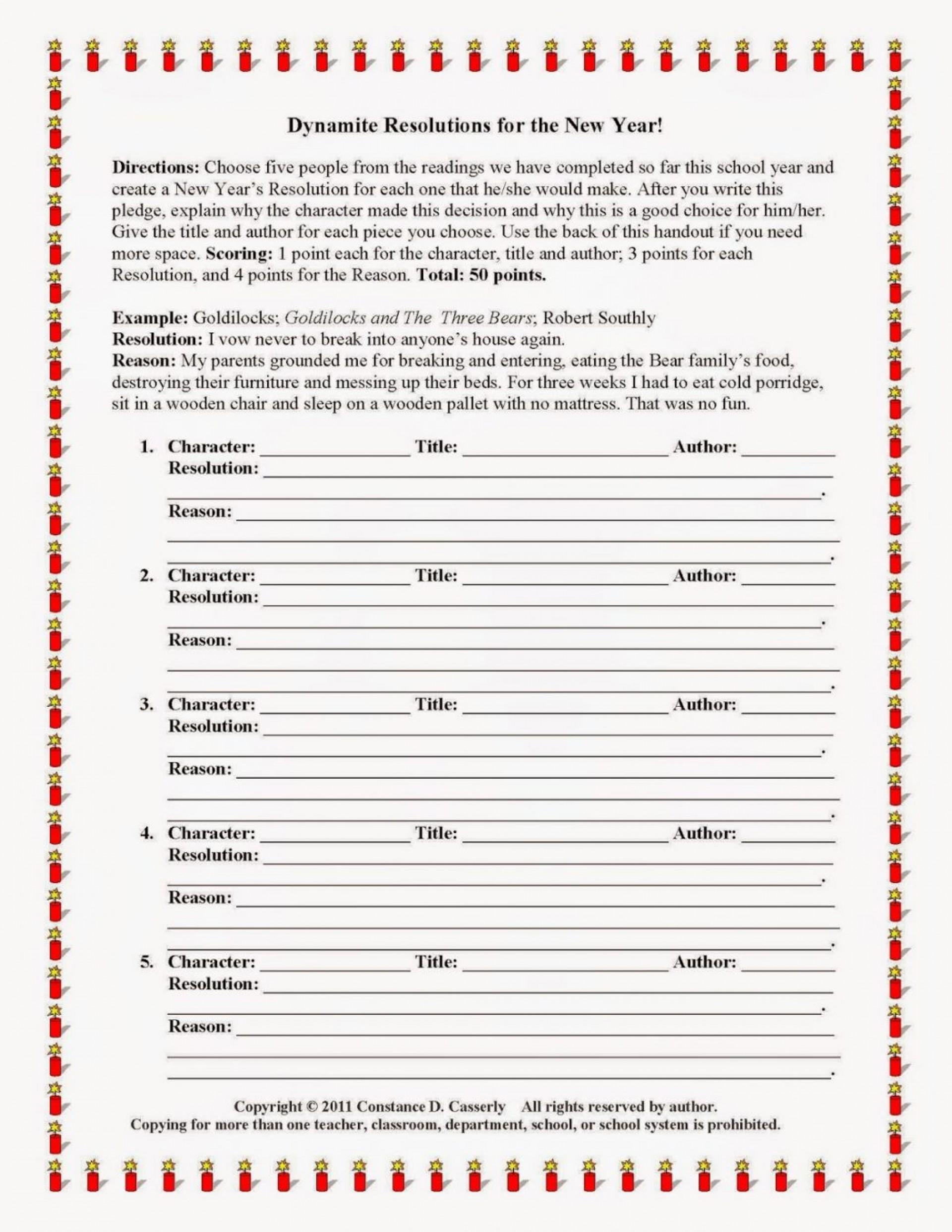020 My New Year Resolution Essay Example On Grammar Write An Happy Activitydynamiteresolutionsforthenewyearwhitebackg Singular High School Student 2019 For Class 5 1920
