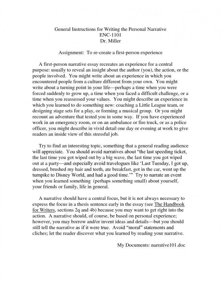 020 Personal Narrative Essayes Writings And Essays Writing Definition Help Me Write My How To Step By Video Pdfe Outline About Yourself Introduction Top Examples Free Samples Of Essay For Colleges 728