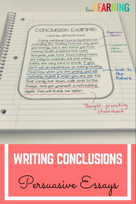 020 Persuasive Essay Conclusion Impressive Paragraph Examples Structure Large