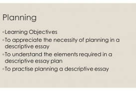 020 Planninglearningobjectives Elements Of Descriptive Essay Exceptional Key A And Features