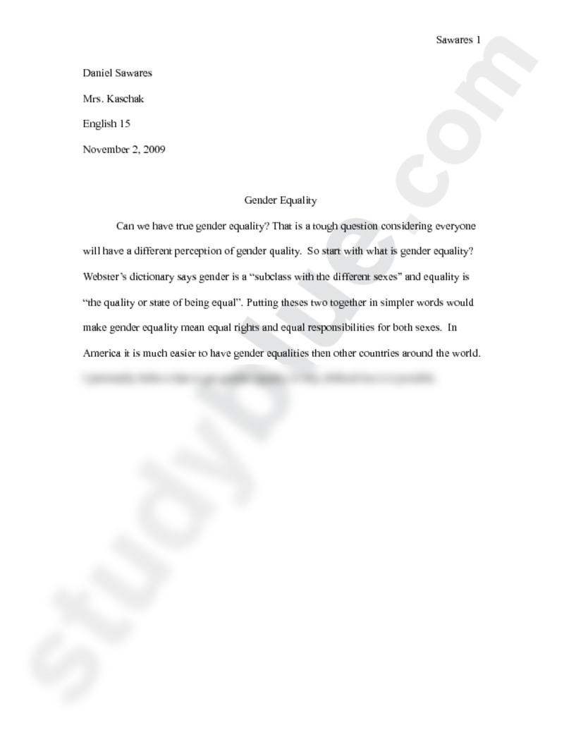 020 Preview0 Essay Example Gender Top Equality Research Paper Ideas Argumentative Pdf In Simple Words Full