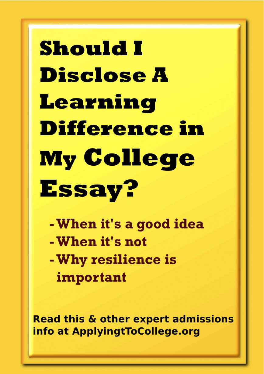 020 Should I Write About Learning Difference In My College Essay What Not To Shocking A Transfer Good Things 868