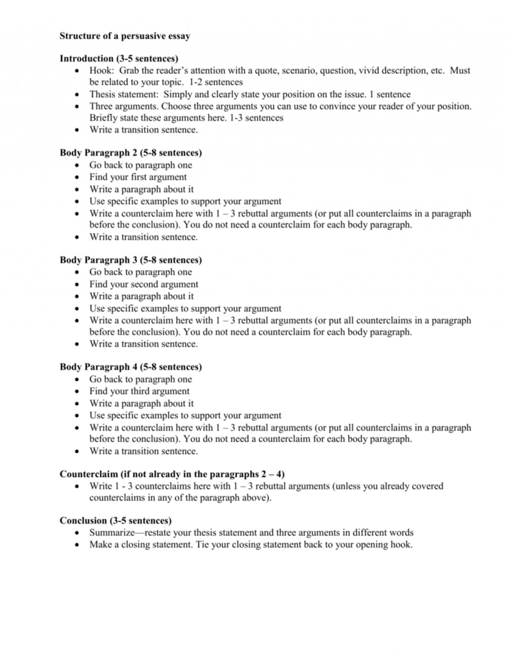 020 Structure Of Five Paragraph Persuasive Essay Closing Sentences For Essays 007464539 1 Conclusion Archaicawful Sentence Examples Large