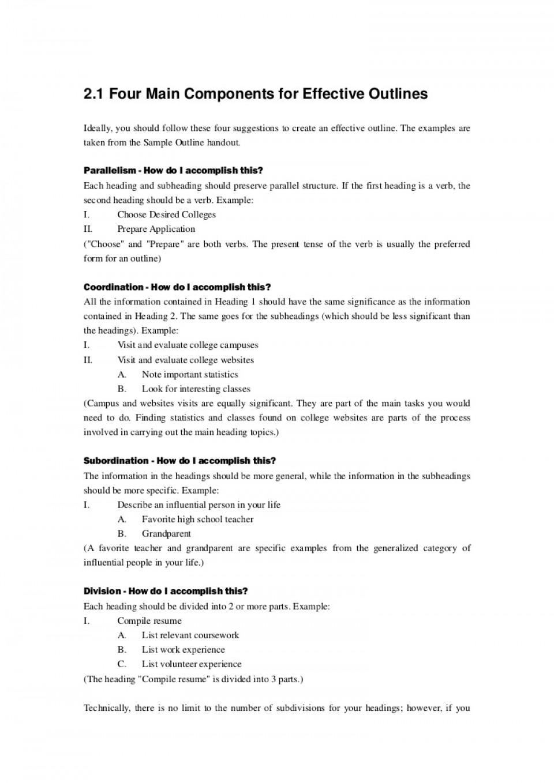 Essay outline generator