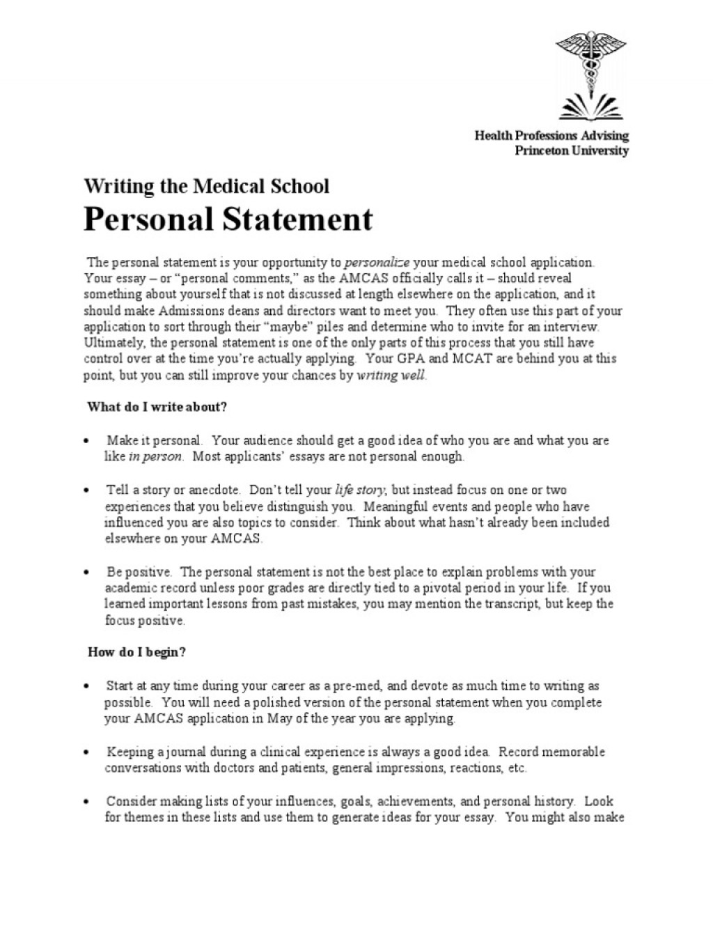 020 Writing The Personal Statement Princeton Medical S 57604e71b6d87f03a78b47aa Essay Example Why Career Is Important In Our Frightening Life Large