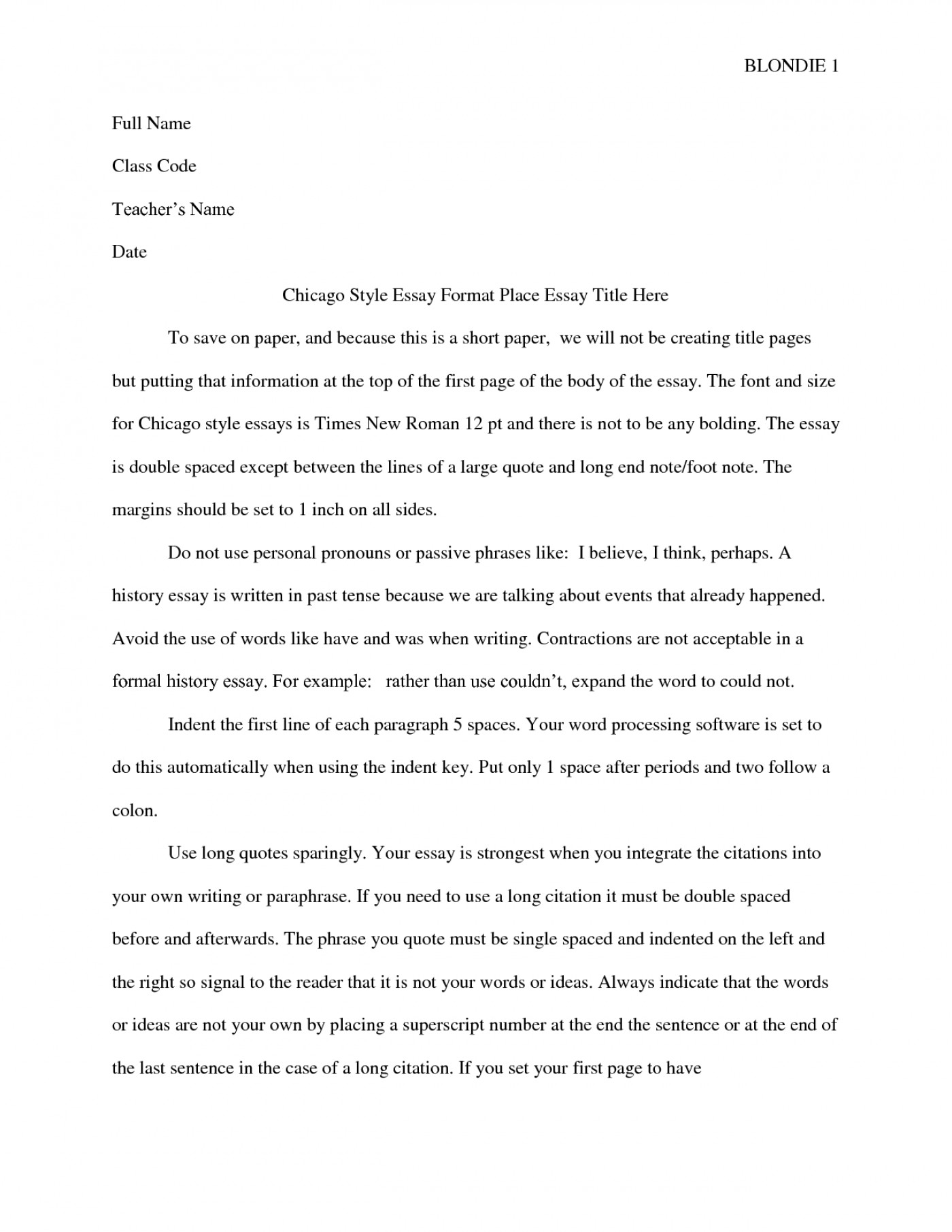 021 Chicago Essay Format Free Exquisite Turabian Style Without Title Page Template Shocking Footnotes Heading 1400