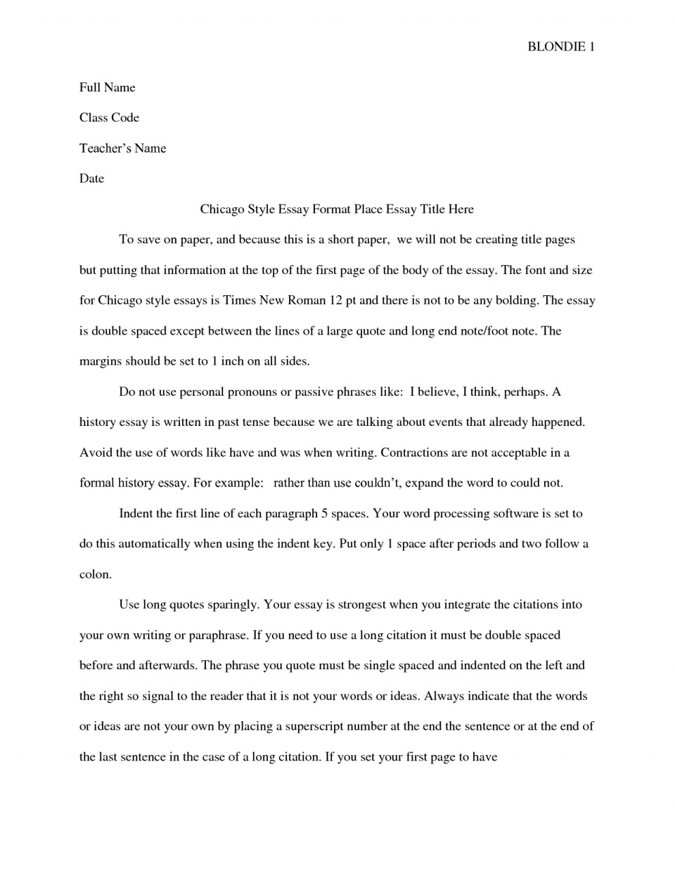 021 Chicago Essay Format Free Exquisite Turabian Style Without Title Page Template Shocking Footnotes Heading 960