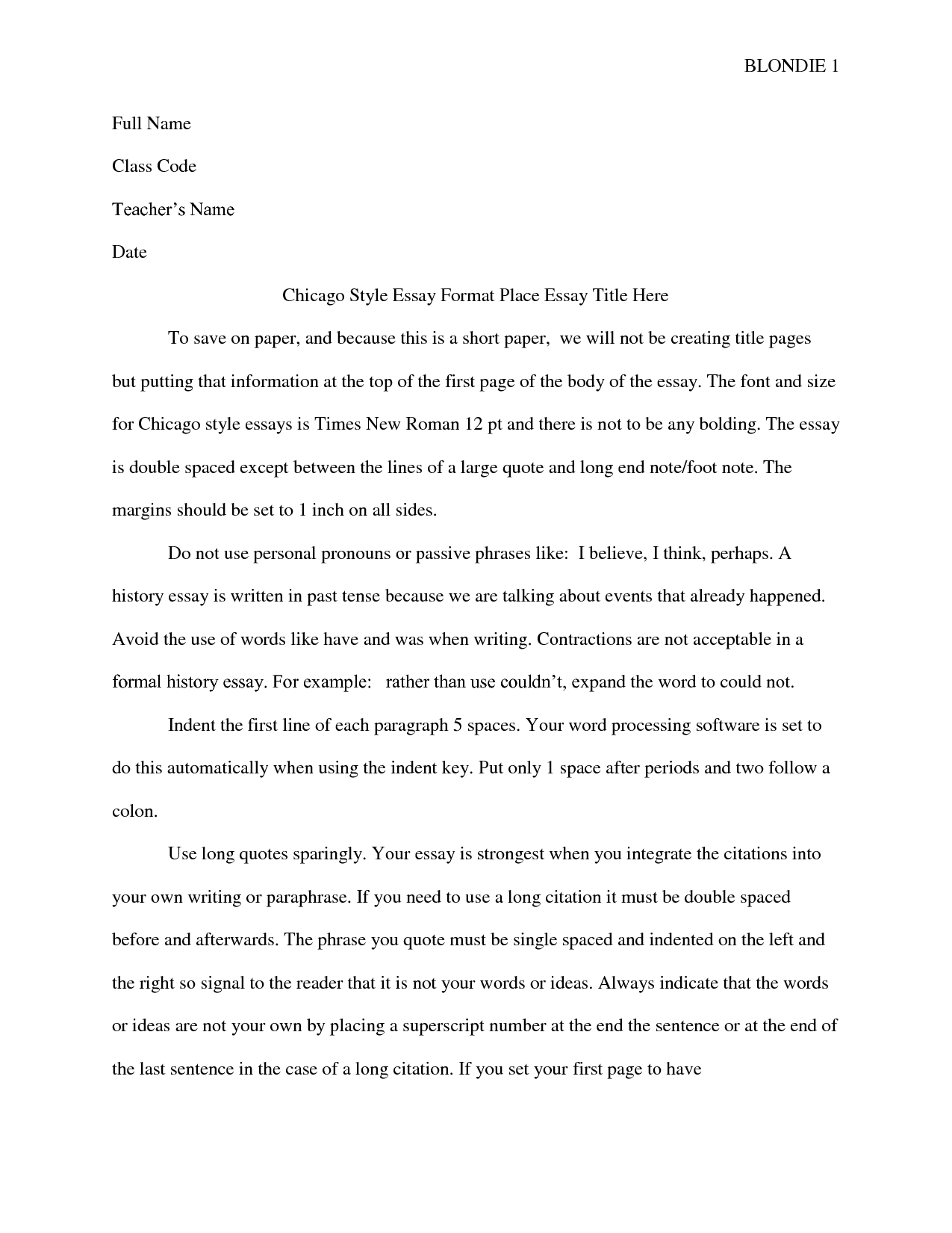 021 Chicago Essay Format Free Exquisite Turabian Style Without Title Page Template Shocking Heading University Of Full