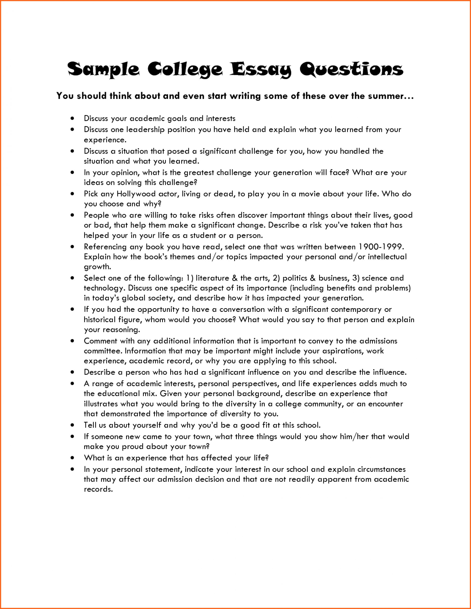 021 College Admission Essay Example Application Examples Rare Prompts Format Ivy League 1920